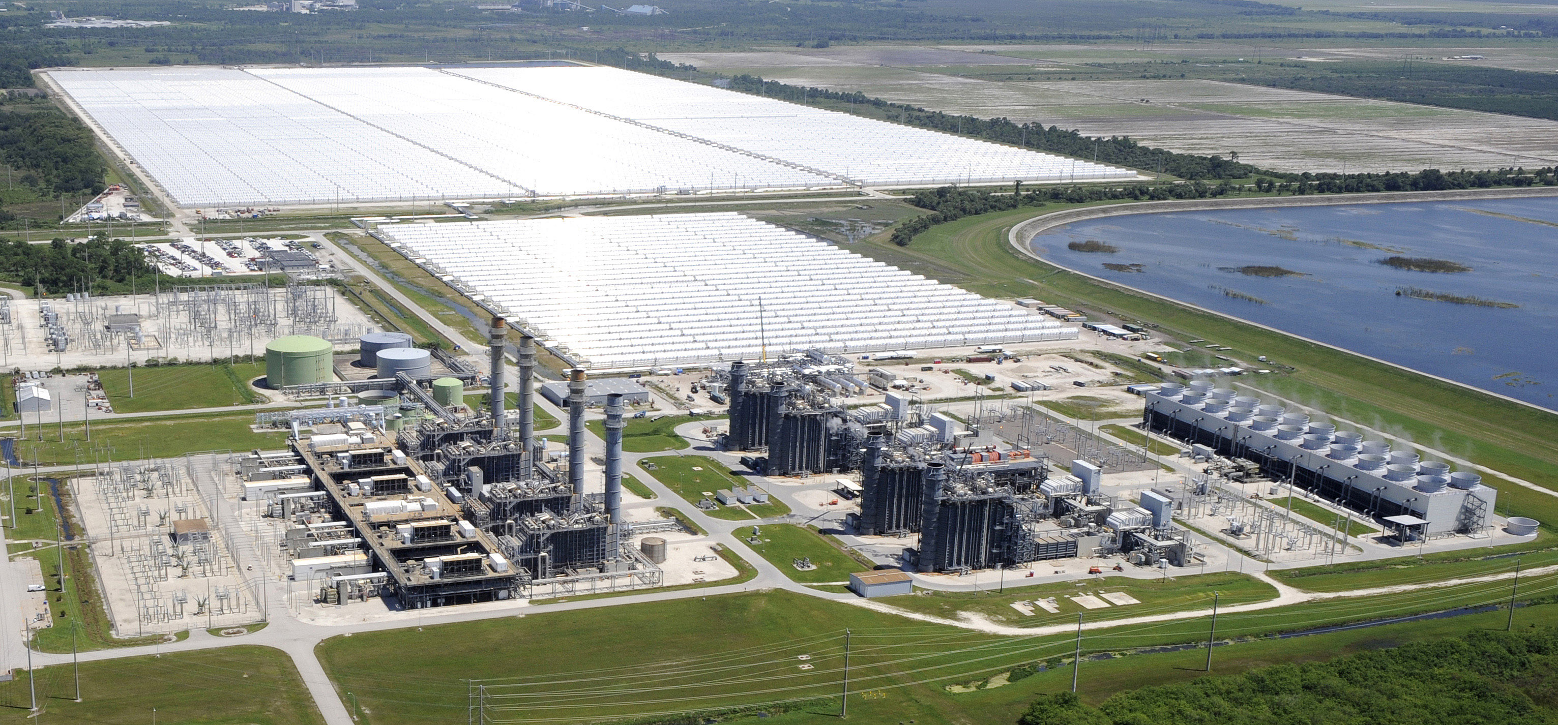Aerial View Of Florida Power U0026 Light Companyu0027s Martin Next Generation Solar  Energy Center On Thursday,Sept. 2, 2010, In Indiantown, Fla.